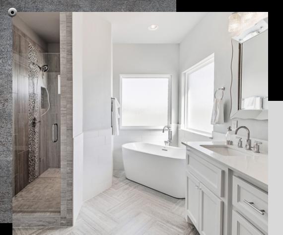 luxury bathroom that has been renovated