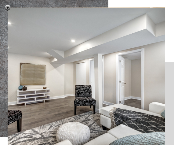 renovated basement in an older home in Ottawa